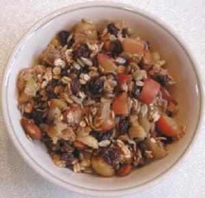 Вегетарианские рецепты, яблоцный десерт на завтрак