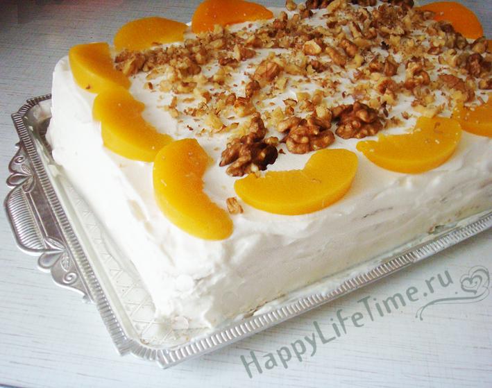 Вегетарианский торт со сливками