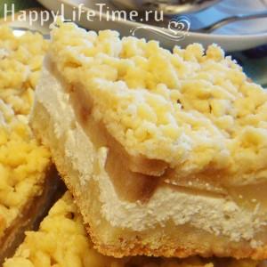 Творожно-грушевый пирог вегетарианский