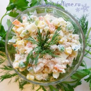 салат оливье вегетарианское
