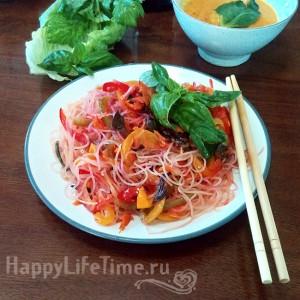 фунчоза с овощами, рецепт