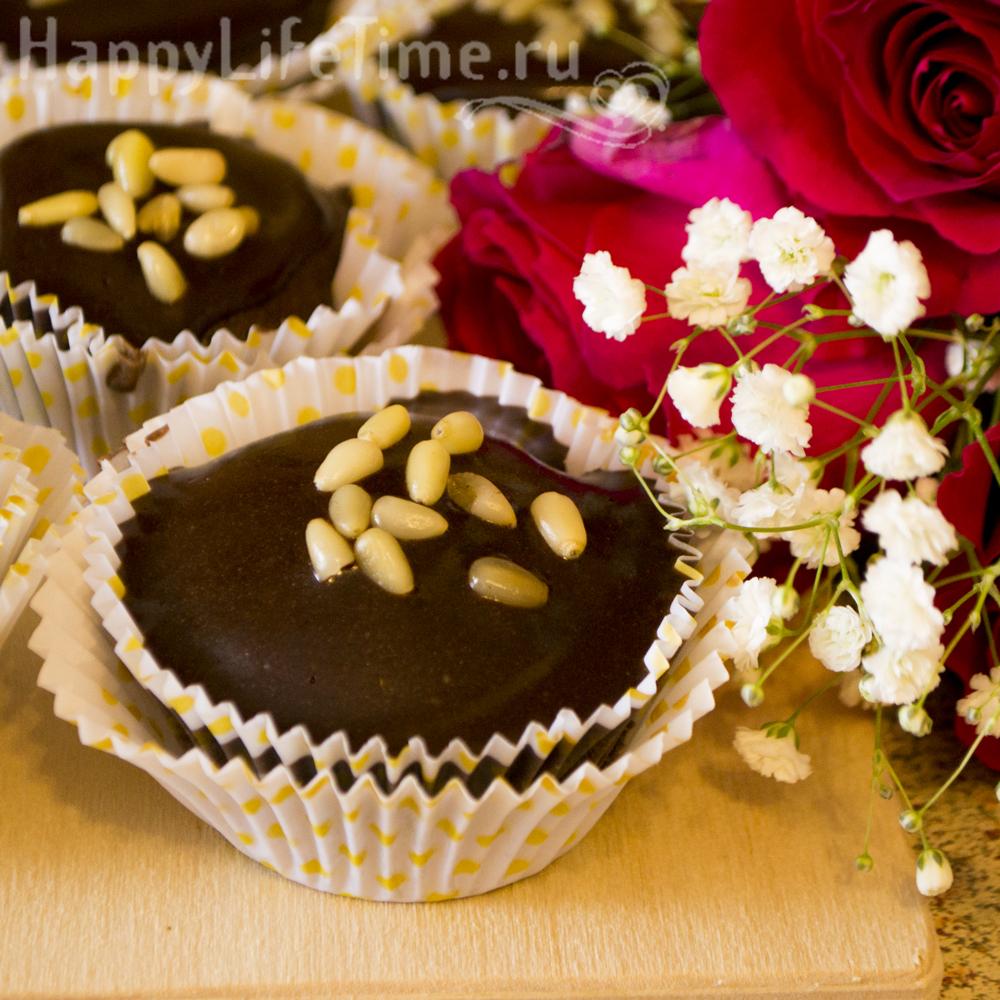 Шоколадные капкейки (кексы без глютена и без молока)